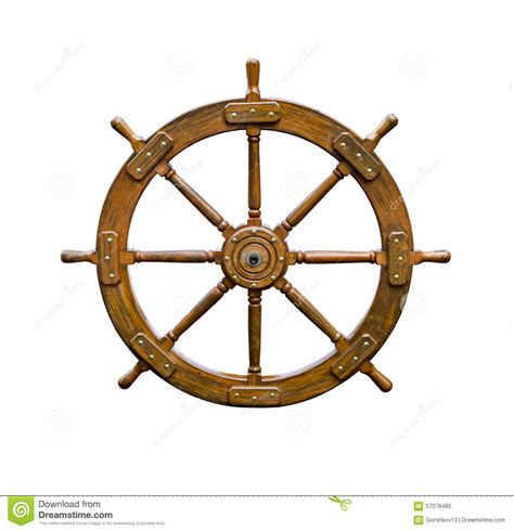 Boat Driving Wheel by Boat Steering Wheel On White Stock Image Image 57078485