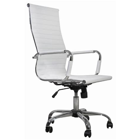 white leather office chair high back vidaxl