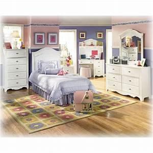 B188 21 Ashley Furniture Exquisite White Bedroom Bed Dresser