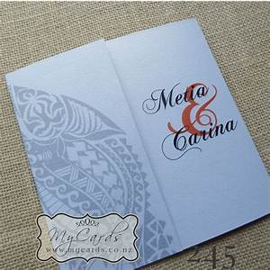 maori wedding invitation 140mm letterfold mycards With wedding invitations printing auckland