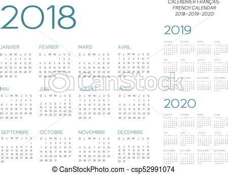 calendario vector frances