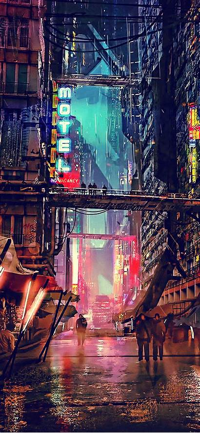 Cyberpunk Sci Fi Wallpapers Resolution Iphone Xs