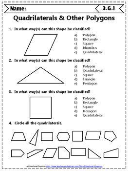 grade geometry worksheets  grade math worksheets