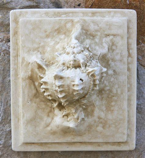seashell wall tile garden wall plaques  sea shell