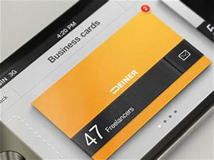 Business card organizer iphone app by erik deiner dribbble for Business card iphone app