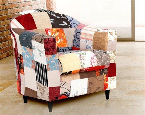 Poltrona Maria Patchwork Decorativa Cadeira Sala Recepção