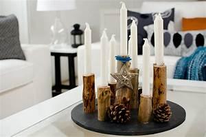 Kerzenständer Holz Selber Machen : kerzenleuchter aus holz leelah loves ~ Yasmunasinghe.com Haus und Dekorationen