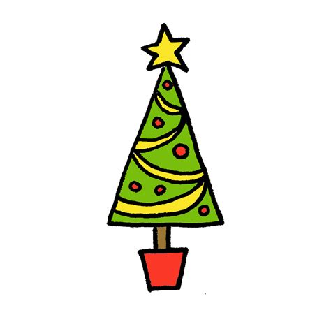 draw  christmas tree  cartoon tutorials