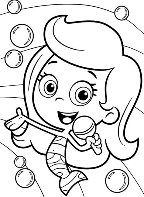 molly bubble guppies coloring pages   print