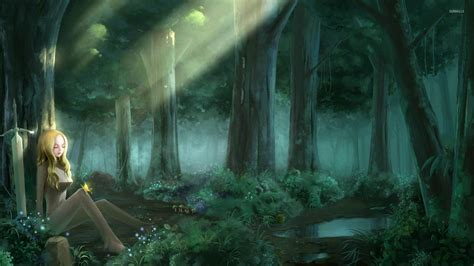 Forest Anime Wallpaper - clare in the forest claymore wallpaper anime