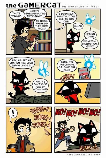Gamercat Comic Comics Cats Cat Gamer Gaming