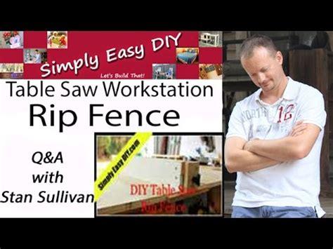 diy table  rip fence qa youtube
