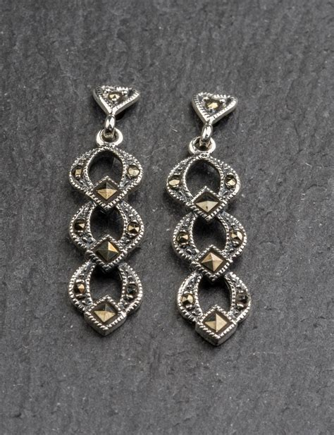 marcasite earrings celtic welsh jewellery