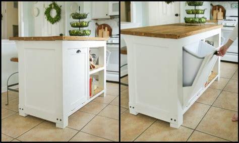 Build A Kitchen Island With Trash Storage