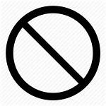 Icon Permitted Warning Prohibition Signs Circle Stop