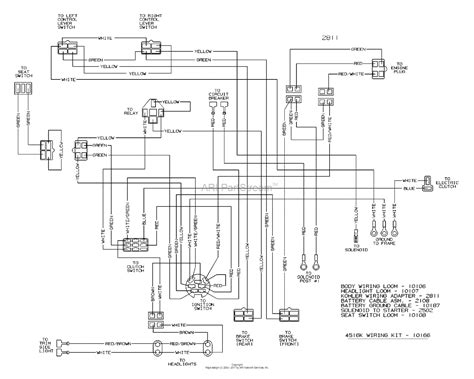 dixon 4516k 2004 parts diagram for wiring
