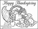 Coloring Thanksgiving Feast Dinner Getcolorings Turkey sketch template