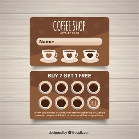 Hello everyone today i want to share this easy to make masculine thank you coffee card. Modern coffee shop loyalty card template | Free Vector