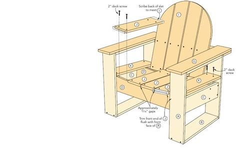 adirondack chair woodworking plans home furniture design