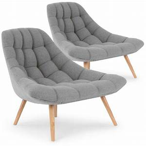 Canapé Et Fauteuil : lot de 2 fauteuils robson tissu gris ~ Teatrodelosmanantiales.com Idées de Décoration