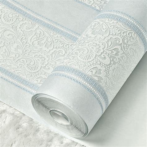 beibehang mural metallic glitter white silver wide stripe