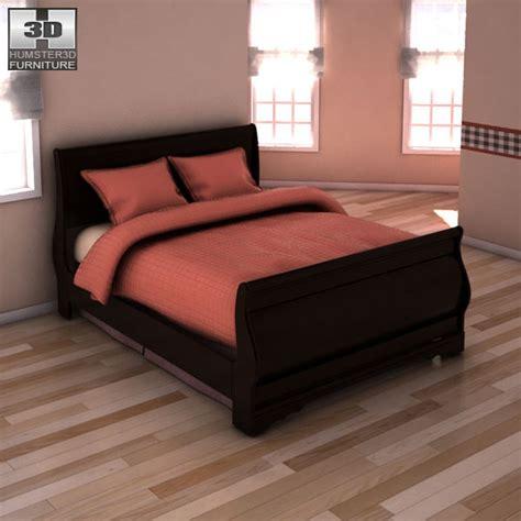 huey vineyard sleigh bed huey vineyard sleigh headboard bed 3d model