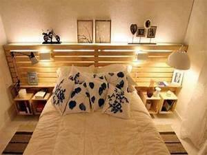 Lit En Palette Avec Rangement : d co de chambre comment choisir sa t te de lit blog decoration maison ~ Melissatoandfro.com Idées de Décoration