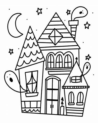 Coloring Pages Halloween Haunted Adults Harry Potter