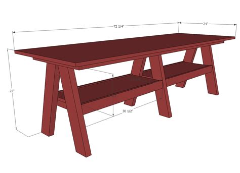 play desk for ana white double trestle play diy projects