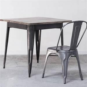Table A Manger Industrielle : table de salle manger industrielle en bois et m tal style bistrot ~ Teatrodelosmanantiales.com Idées de Décoration