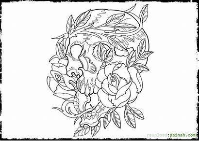 Coloring Dead Pages Death Printable Adult Dawn