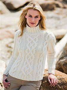 White Cable Knit Sweater Free Knitting Pattern ⋆ Knitting Bee