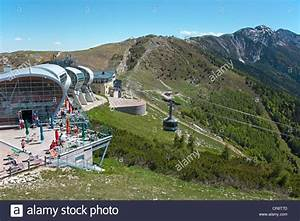 Cable car station on Mt. Monte Baldo, Monte Baldo massif ...
