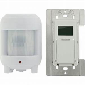 defiant 8 amp in wall sunsmart digital timer switch with With outdoor motion sensor lights with timer