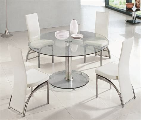 savio small glass chrome dining room table and 4 chairs