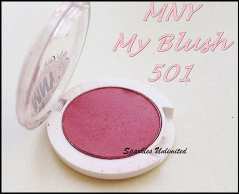 maybelline  york mny blush  shade  review swatches sparkles unlimited