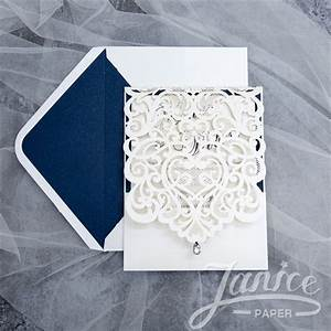 wholesale laser cut wedding invites With laser cut lace wedding invitations canada