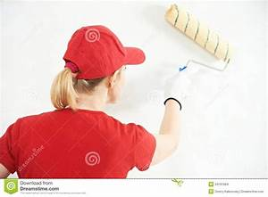 Woman Painter At Indoor Work Stock Images - Image: 34161604