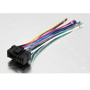 sony car audio radio headunit stereo 16 pin wire wiring harness adapter cable ebay