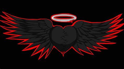black hearted angel wings wallpaper allwallpaperin