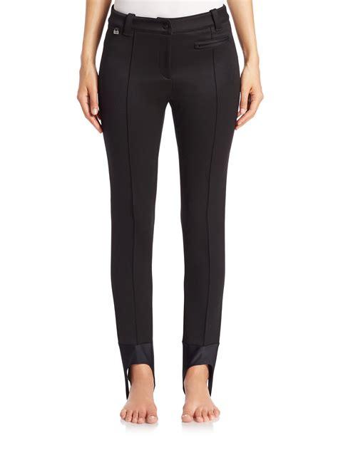 fendi seamed stirrup pants black lyst