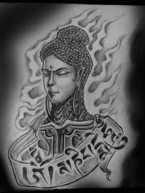Meditating buddha tattoo jelent?se
