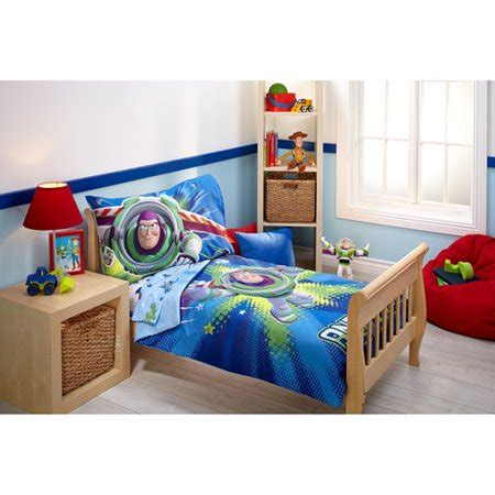 Story Toddler Bed Set by Story Power Up 4 Toddler Bedding Set Walmart