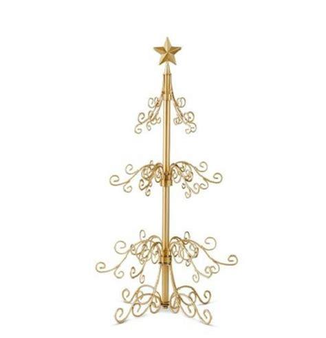 metal christmas tree ornament holders metal display ornament tree decor gold or black 2 sizes