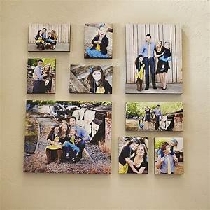 Toile De Mur : mur avec des photos sur toile photo de famille pinterest d coration maison maison et ~ Teatrodelosmanantiales.com Idées de Décoration
