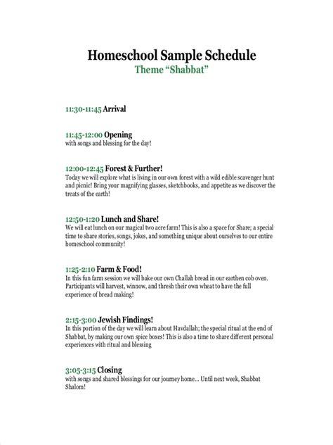 homeschool schedule examples samples  google