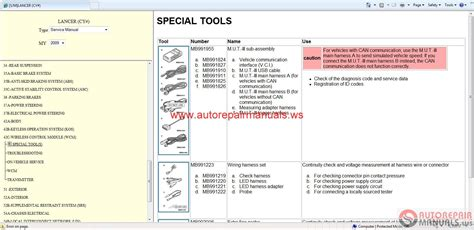 Mitsubishi Lancer 2009 Service Manual