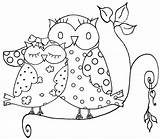 Owl Coloring Pages Printable Adult Adults Difficult Owls Easy Colouring Printables Simple Sheet Animals Pattern Watercolor Prints Own Spotted sketch template