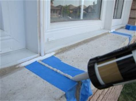 Caulking Window Sills by Window Sill Mortar Cracks Repair How To Clarified Home