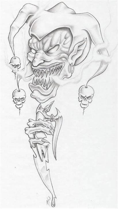 Evil Jester Deviantart Tattoos Drawings Skull Markfellows